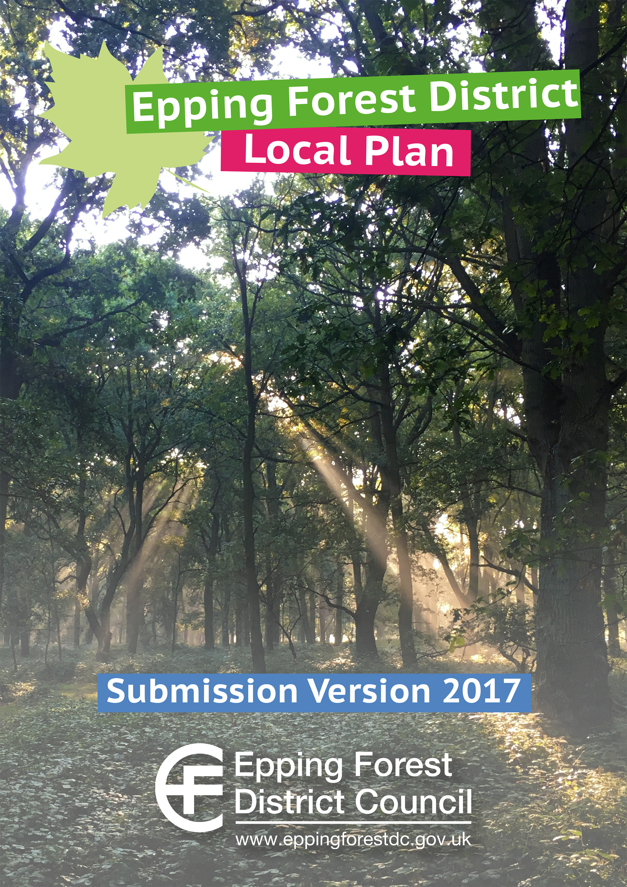 Epping Forest District Local Plan Submission screenshot link leads to the full document