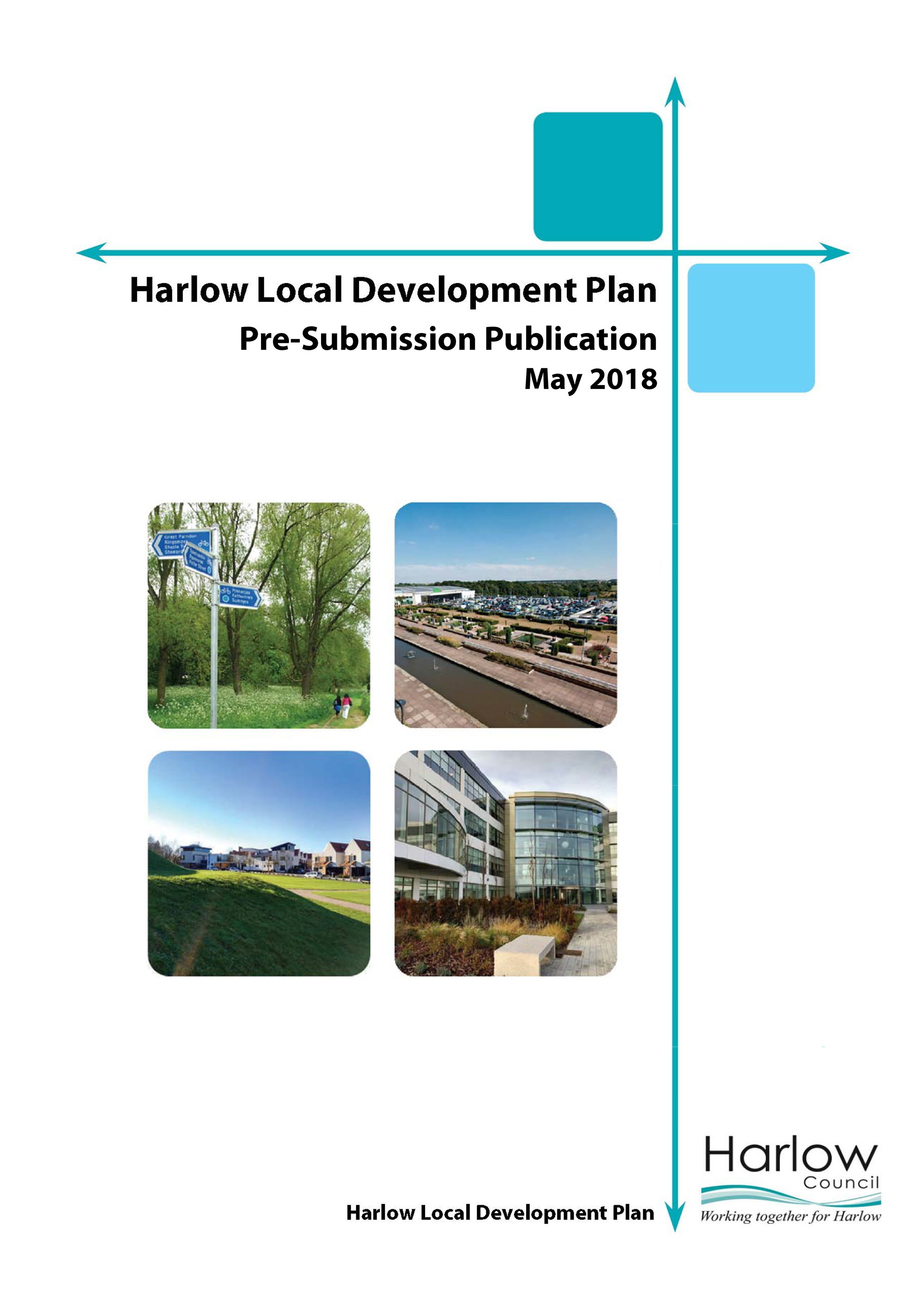 Harlow Pre-Submission Publication Local Plan screenshot leads to the full document