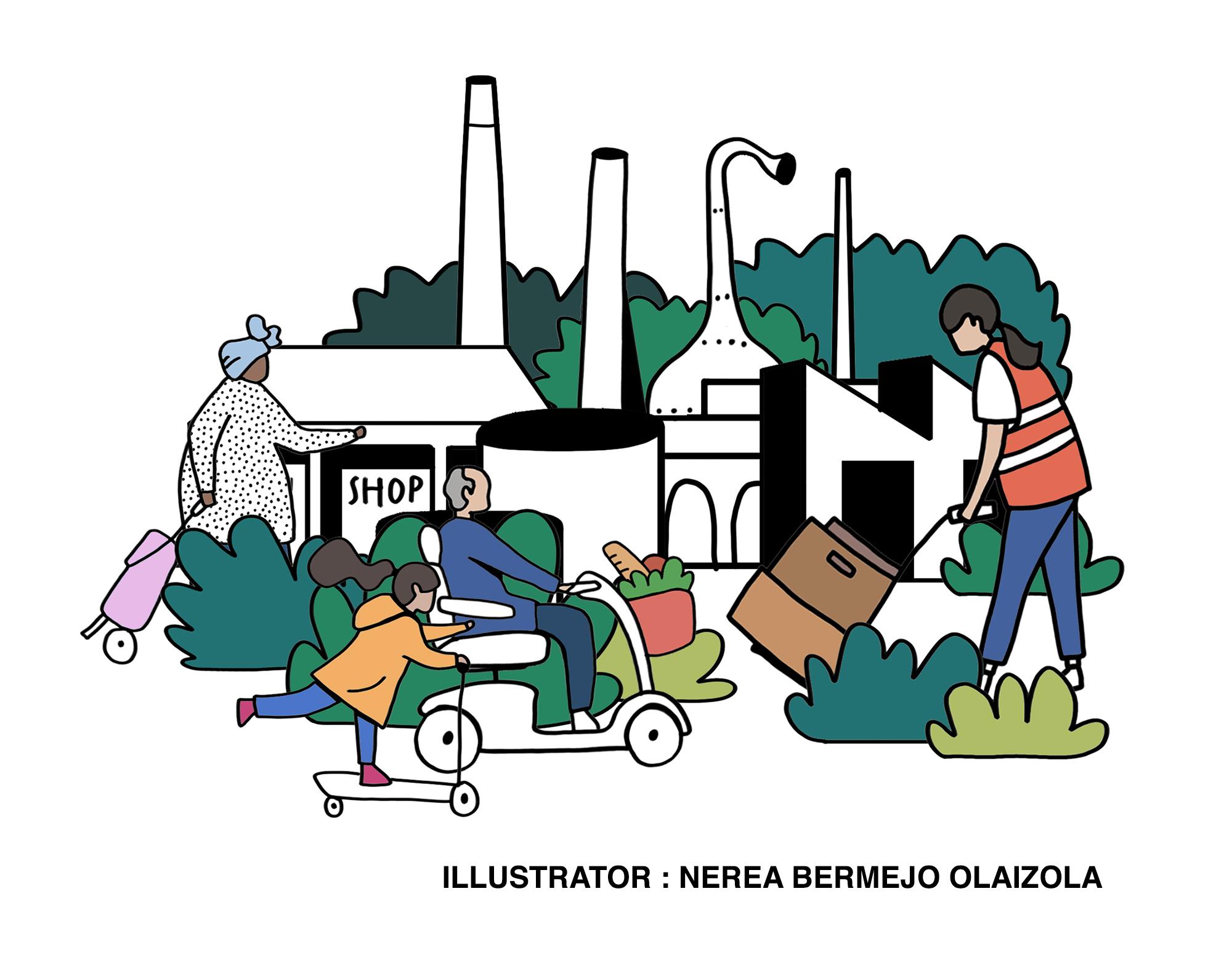 garden town illustration