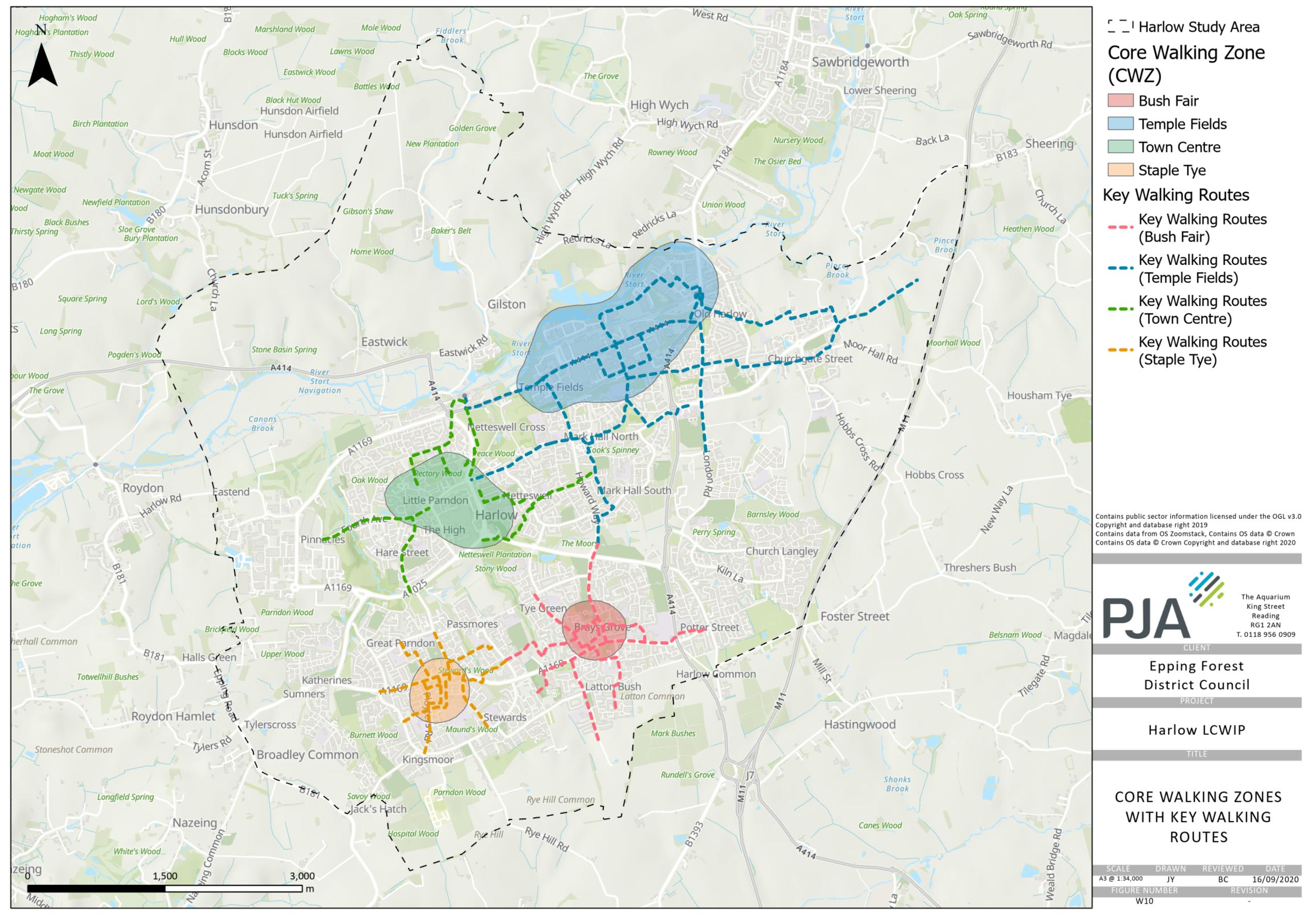 map of walking zones
